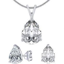 Silvego Strieborný set šperkov s čírym krištáľom JJJS8888