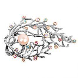 JwL Luxury Pearls Luxusné brošňa 2v1 s pravou perlou a farebnými kryštály JL0389