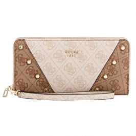 Guess Dámska peňaženka Kaia zips Around Wallet Brown
