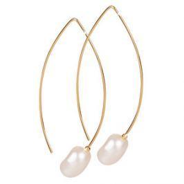 JwL Luxury Pearls Pozlátené náušnice s pravou perlou JL0409