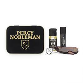 Percy Nobleman Pánska cestovná sada na fúzy ( Styling ový vosk + Olej na vousy + Hřeben): Vosk na fúzy s bambuckým maslom (Moustache Wax) 5 ml + Vyživujúci olejový kondicionér na fúzy s drevitou vôňou (Beard Conditioning Oil) 10 ml