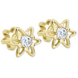 Brilio Zlaté hviezdičkové náušnice s kryštálom 236 001 00911 - 1,05 g