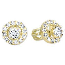 Brilio Zlaté okrúhle náušnice s čírymi kryštálmi 239 001 00860 - 2,30 g