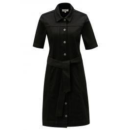 a6549b0217a5 Recenzia Tmavomodré vzorované košeľové šaty s opaskom Maloja