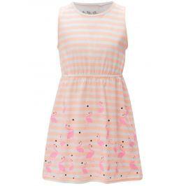 Detail zboží · Oranžové dievčenské pruhované šaty 5.10.15. 3f32803b39c