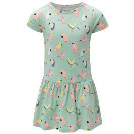 Svetlozelené dievčenské vzorované šaty 5.10.15.