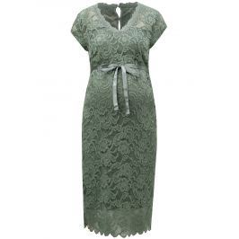 Zelené čipkované tehotenské šaty Mama.licious New mivana