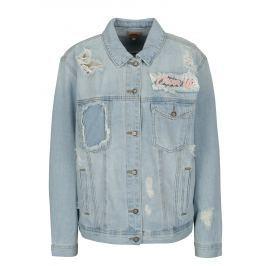 6afb459d59fc Detail zboží · Modrá rifľová bunda s potrhaným efektom a výšivkou ONLY  Caroline