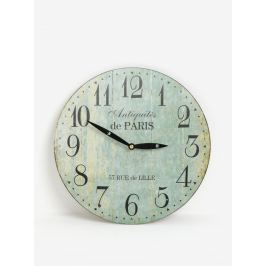 Svetlomodré vintage nástenné hodiny SIFCON