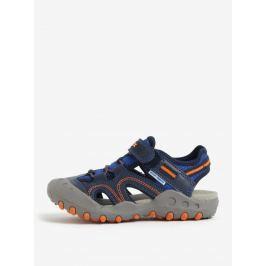 Sivo-modré chlapčenské sandále Geox Kyle