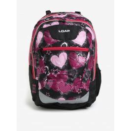 bcbfb4cc8d Detail zboží · Čierno-ružový dievčenský vzorovaný batoh LOAP Ellipse 25 l