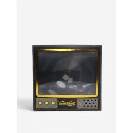 Zlato-sivý zväčšovač ku smartphonu v tvare televízie Luckies