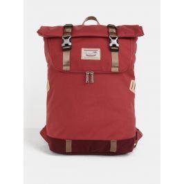 Červený batoh s koženými detailmi Doughnut Christopher 18 l