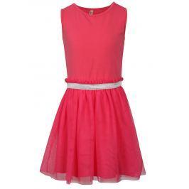 Ružové dievčenské šaty s tylovou sukňou North Pole Kids