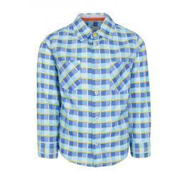 e5b83a61b0e0 Detail zboží · Modrá chlapčenská károvaná košeľa 5.10.15.