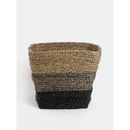 Hnedý pletený kôš Dakls