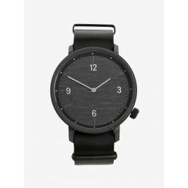 Čierne unisex hodinky s koženým remienkom  Komono Magnnus