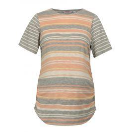 Marhuľovo–sivé pruhované tehotenské tričko Dorothy Perkins Maternity