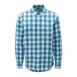 76cf47c51689 Detail zboží · Bielo-zelená pánska kockovaná regular fit košeľa Tommy  Hilfiger