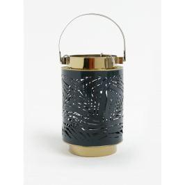 Tmavozelený kovový lampáš Kaemingk
