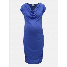 Modré tehotenské puzdrové šaty Mama.licious