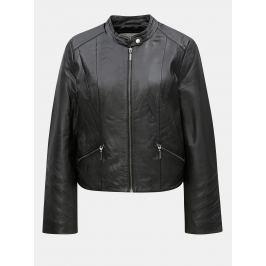 Čierna kožená bunda VILA Makana