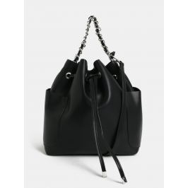 Čierna vaková kabelka s odnímateľným popruhom Pieces Freja