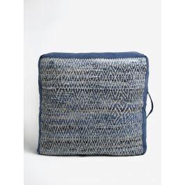 Modrý melírovaný sedák Kaemingk