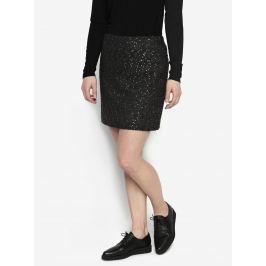 e5e3e91822b6 Detail zboží · Čierna vzorovaná sukňa s detailmi v zlatej farbe Oasis Spot