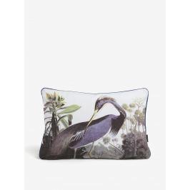 Biely vánkúš s motívom žeriava Magpie Heron