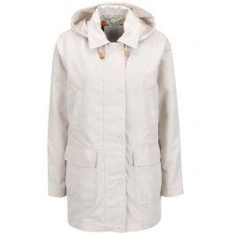 f8d3ff838ab7 Krémová dámska bunda s kapucňou a vreckami Geox