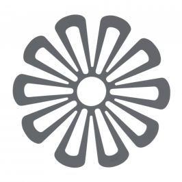 Zone Silikónová podložka pod hrnce kvetina 15,8 cm tmavo šedá