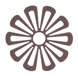 Zone Silikónová podložka pod hrnce kvetina 15,8 cm slivková