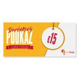 Darčekový poukaz 15 € na nákup v Chefshop.sk
