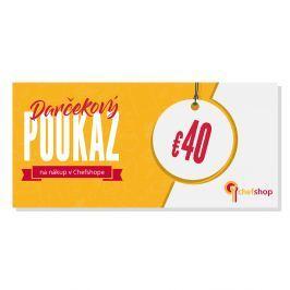 Darčekový poukaz 40 € na nákup v Chefshop.sk