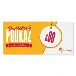 Darčekový poukaz 80 € na nákup v Chefshop.sk