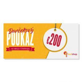 Darčekový poukaz 200 € na nákup v Chefshop.sk