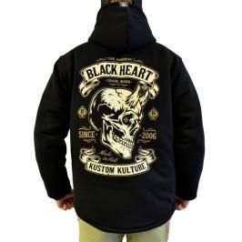 BLACKHEART Devil Skull Lined čierna - M