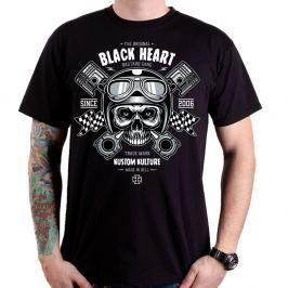 BLACKHEART Piston Skull čierna - M
