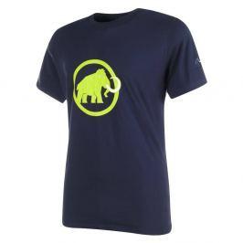 Mammut Logo - krátký rukáv tmavo modrá so zeleným logom - M