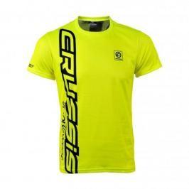 Crussis Pánské triko Crussis - krátký rukáv fluo žltá - M