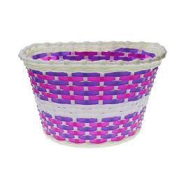 Nexelo Detský predný košík bielo-fialový