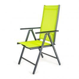 HAPPY GREEN Stolička polohovacia RAMADA 56,5 x 42,5 x 107 cm, svetlozelená