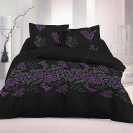 Kvalitex Saténové obliečky Victoria čierna Luxury Collection, 140 x 220 cm, 70 x 90 cm