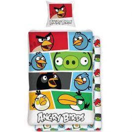 Halantex Bavlnené obliečky Angry birds 009 colour Obliečky bavlna - Angry birds 009 colour 1x 140/200, 1x 90/70