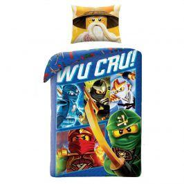 Halantex Detské bavlnené obliečky Lego Wu Cru!, 140 x 200 cm, 70 x 90 cm