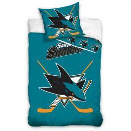 TipTrade Bavlněné svietiace obliečky NHL San Jose Sharks , 140 x 200 cm, 70 x 90 cm