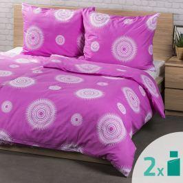 4Home 2 sady obliečok Tango ružová, 140 x 200 cm, 70 x 90 cm
