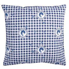 Trade Concept Obliečka na vankúšik Country kocka modrá, 40 x 40 cm