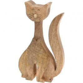 Dekoratívna drevená mačka 24 cm